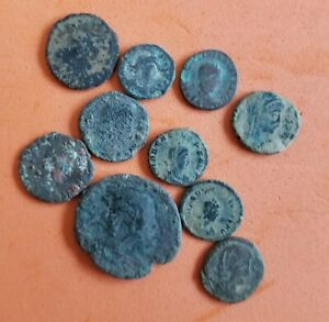 Lot #143  (10) Ancient Roman Imperial Coins AE  Uncleaned
