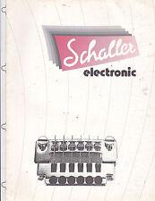 # MISC 0316 1970s Schaller Guitarra Eléctrica Bridges Instrumento Musical