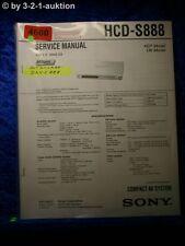 Sony Service Manual HCD S888 Compact AV System (#4660)