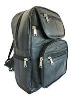 Ladies Black Soft Real Leather Backpack Rucksack Bag Womens Backpacks Bags QL193