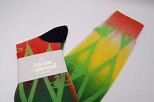 Vivienne Westwood Degrade Diamond High Socks Navy Orb 22.5-23.5 cm Japan #243
