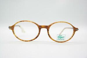 Vintage Lacoste 789 Braun Silber Oval Brille Brillengestell eyeglasses NOS