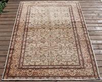 Turkish Rug 47''x65'' Vintage Flower Pattern Area Carpet 121x167cm Kayseri Rug