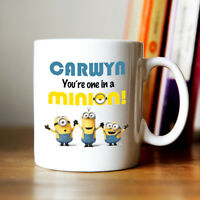 Personalised Despicable ME Minions Coffee Mug Add Any NAME Ideal Gift Present
