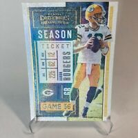 2020 Panini Contenders AARON RODGERS Stardust Parallel #1 SSP GB PACKERS MVP NM!