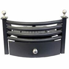 Solid Fuel Set Front Grate Chrome Black Fireside Ash Coal Pan By Home Discount