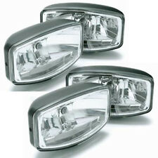 SET OF 4 HELLA JUMBO 320 FF DRIVING LAMP WITH CLEAR LENS WITH POSITION LIGHT