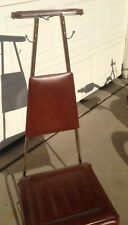 Vintage Men's Suit Valet Wardrobe Hanger with Padded Seat