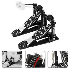 Heavy Duty Double Kick Drum Pedal Bass Dual Chains Dual Beaters