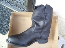 New Mens Black Leather WP Work Boots BONANZA BA 104 SIZE 13 NEW IN BOX
