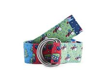 NWT Vineyard Vines Boys Holiday Patchwork D-Ring Belt