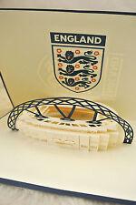 3D Luxury Handmade Cards Pop Up- England Football Stadium Unusual Card DIY