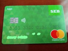 Seb bank Debit Plastic Maestro Cards For Collectors NZ988