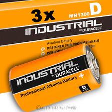 3x MONO D LR20 MN1300 Batterien DURACELL INDUSTRIAL