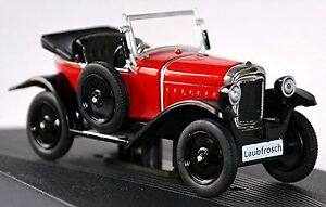 Opel 4/12 Ps Tree Frog Cabriolet 1924-26 Red 1:43