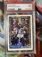 1992-93 Topps #362 Shaquille O'Neal RC Rookie Magic Lakers - PSA 9 MINT Shaq HOF