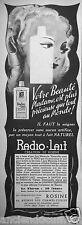 PUBLICITÉ 1938 RADIO-LAIT CRÉATION DE ROSINE - ADVERTISING