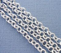 3ft Silver color Findings Rolo Link opened Cable Chains 6mm Jewelry making  DIY