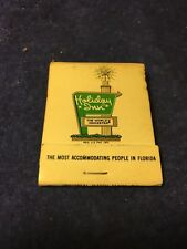"""Vtg. Matchbook: Holiday Inn Florida, """"The most accommodating people in Florida"""""""