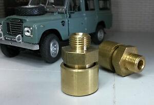 Austin Healey 3000 Sprite Triumph Brass Gearbox Axle Casing Breathers x2 21H6060