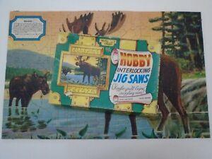Jaymar Hobby Chest Jig Saw Puzzle Moose w/ box EUC 300 pc 1950?