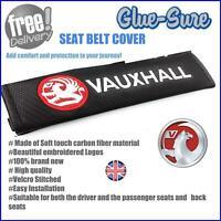 Vauxhall Car Seat Belt Safety Shoulder Strap Cover Cushion Pad Carbon Fiber