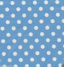 Polka Dots Blue Quilt Fabric - Free Shipping - 1 Yard