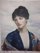 Dipinto Olio su Tela Ritratto Donna Quadro Dama Scena 50x60 compreso telaio 40