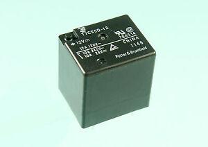 2pcs TE Connectivity, 12vdc Relay, SPDT, 10A 240vac, 12A 120vac,  T7CS5D-12