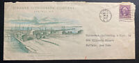 1932 Buffalo NY USA Advertising Niagara Lithograph Co Cover Locally Used