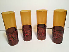 Spanish Glass With Leather Sleeve Set Of 4 Templar Cross Ship Sail