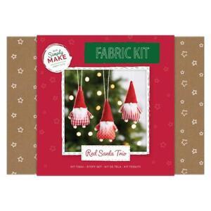 Docrafts Simply Make Fabric Santa Trio Kit DSM 106063