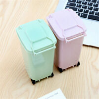 Mini Trash Can Storage Bin Desktop Organizer Pen Pencil Holder S