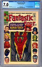 FANTASTIC FOUR #54 CGC 7.0 STAN LEE JACK KIRBY *BLACK PANTHER & INHUMANS* 1966