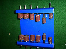 SANDING CYLINDERS FOR DREMEL TYPE MACHINE 12 PIECES