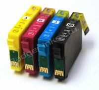 Set of 4 non-OEM Ink Cartridges Equivalent to Strawberry Series to replace 29XL