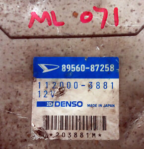 DAIHATSU Mira E-L500S 89560-87258 Ecu Ecm oem jdm used 8956087258