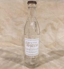 VTG Wieco Carbonated Beverages 7.5 oz Soda Pop Bottle Wiesmann Marion Wisconsin