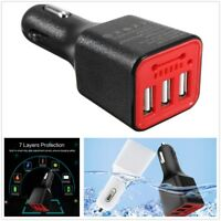 3 IN 1 Car Charger with Purifier Air 3 USB Ports Waterproof Fireproof 12-24V