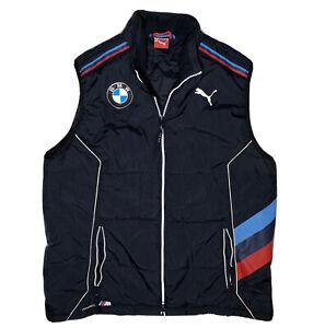 Puma BMW RLL Rahal David Letterman Lanigan Auto Racing Full Zip Vest Blue Men XL