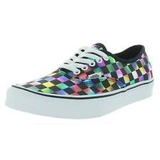Vans Womens Authentic Black Fashion Sneakers Shoes 6 Medium (B,M) BHFO 8872