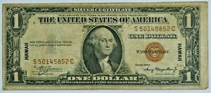 1935 A $1 One Dollar Silver Certificate HAWAII Note (SI-OY) 99c NO RESERVE