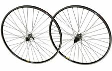 700c PAIR Shimano Deore 36h Hybrid Bike Bicycle Mavic A119 Black Rims Wheelset