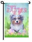 Australian Shepherd mini dog garden flag SPRING Easter Aussie landscape decor
