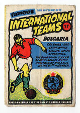 Anglo-American Gum Bell Boy wax wrapper Famous International Teams #17 Bulgaria