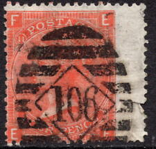 1869 4d Dull Vermilion SG93  Letters EF Plate 11 Good Used with Fault