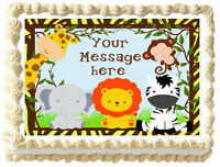JUNGLE ANIMALS Image Edible cake topper decoration