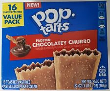 NEW Pop Tarts Toaster Pastries Frosted Chocolatey Churro 16 Count Free Shipping
