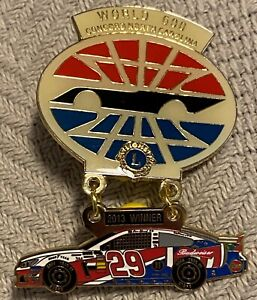 2013 Lions Club Pin World 600 Nascar Race Concord, NC Kevin Harvick #29