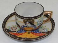 Vintage Kannon Goodess of Mercy Cup & Saucer Occupied Japan Beautiful!